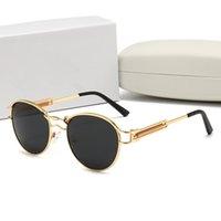 7735 Medusa 브랜드 디자이너 선글라스 남성용 나무 안경 여성 패션 버팔로 선글라스 맑은 갈색 렌즈 나무 프레임