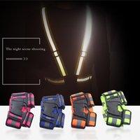 안전 기어 야간 스포츠 리플렉션 조끼 의류 높은 가시성 조정 가능한 탄성 스트립 조끼 자켓 사이클링