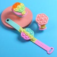 Fidget Bracelet Push Bubble Fidgets Toys for Boy Girl Adult Man Woman Silicone Wearable Sensory Stress Relief Simple Dimple Bracelets Watch Wristband - B 100