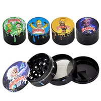 Backwoods Zinc Alloy 2inch 4 Pieces Set smoking accessories Large Spice Herb Grinder Soft Touch Magnetic Lid with Scraper and Pollen Catcher