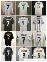 Top 2004 2005 Real Madrid Retro jerseys 04 05 Soccer jersey classic 2011 2012 ZIDANE BECKHAM RONALDO 11 12 camisetas shirt