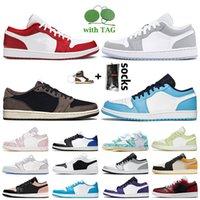 nike air jordan 1 low off white travis scott 1 1s женские мужские баскетбольные кроссовки jumpman 1 с черным носком OG королевский синий UNC Paris дизайнерские кроссовки