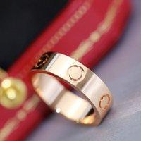 المسمار نمط الحب الذهبي الفضة التيتانيوم الصلب الماس الفرقة حلقة الرجال والنساء الزفاف عطلة زوجين عاشق هدية مجوهرات لا تتلاشى