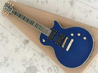 Electric guitar transparent blue body color shell edge fingerboard color shell Mosaic active sound pickup