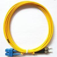 Vente directe d'usine Telecom Grade Qualité 3M SC / UPC à ST / UPC Duplex OS1 Mode Single PVC (OFNR) Câble de correctif optique de fibre optique de 3,0 mm