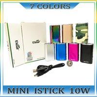 Elaf mini istick kit 7 couleurs 1050mAh Batterie intégrée 10W max Sortie Max Valtion Valtion MOD avec câble USB Connecteur EGO Envoyer rapidement