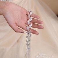 Trixy S198-S Hochzeitsgurte für Frauen Brautschärpe Silber Blattgürtel Abschlussballkleid Zubehör Braut Taillenbund Hochzeit Sash Braut