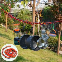 Outdoor Gadgets Lanyard Camping Tent Rope Storage Accessories Chain Lengthened Binding Strap Clothesline With Bag Hook Up