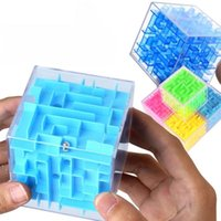 New 3D Maze Magic Blocks Transparent Six-sided Puzzle Speed Rolling Ball Game Cubos Maze Toys For Children Educational party favor ZZA7535