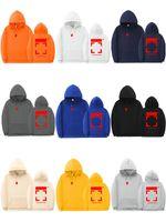 Мужчины и женщины Уличные толстовки Соединенные Штаты с покрытием Arrow Коронаженная буква Печать Свободные капюшоны Хлопок Флис Свитер Белый Куртка Пуловер 9 Цветов