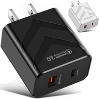 Quick Type c usb charger PD QC3.0 Dual Ports Eu US UK Wall Chargers For Iphone IPad Samsung Tablet PC
