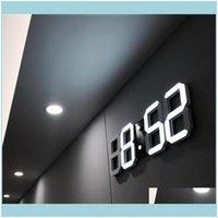 Déce GardenModern Projeto 3D LED Relógio de Parede Moderno Despertador Digital Exposição Home Sala de Estar Escritório Mesa De Mesa Da Mesa Night WA BOYOIN DROP DE