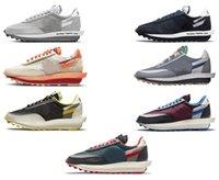2021 Otantik Undercover SACAIS LD Waffle Ayakkabı Parçası Clot Vaporwafle 2.0 LDV Siyah Beyaz Eğitmenler Erkekler Kadınlar Açık Spor Sneakers Orijinal Kutusu