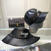 2021 الصيف مصممين البيسبول دلو الجلود قبعة البحرية كاب للرجال امرأة الأزياء بخيل بريم تنفس عارضة قبعات القبعات قبعة casquette