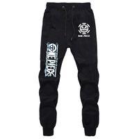 Anime One Piece Luffy Zoro Брюки осень зимы мужские бегуны Фитнес длинные брюки мужские повседневные спортивные штаны плюс размер F1225