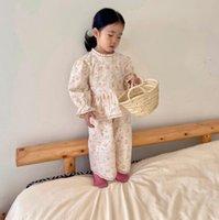 Clothing Sets 2021 Girls Boys 2 Pcs Set Printed Shirt+Long Pants Cotton Autumn Fashion Kids Suits 1-7 Years MY636