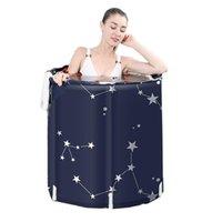 Badewannen Sattern Sauna Badewanne Erwachsene Klappwanne Bad Barrel Artefakt Spa Nicht aufblasbarer tragbarer dicker Kunststoff