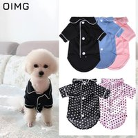 Dog Apparel OIMG Luxury Pajamas Button Solid Homewear Pet Sleepwear Winter Clothes Puppy Cat Shirts For Dogs Pets T-shirts