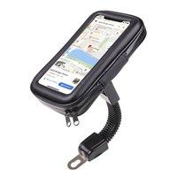 오토바이 백미 미러 휴대 전화 홀더 iPhone 8 / 7을위한 방수 가방
