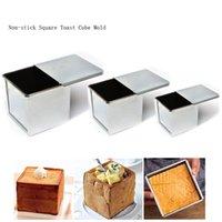 Mini bandeja de pan antiadherente, molde de tostada de pan de acero aluminizado con pastel de tapa Postre de pastelería para el molde con tapa 210225