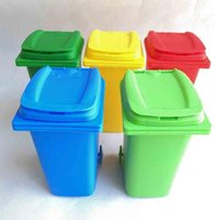 Büyük Ağız Oyuncaklar Mini Çöp Kalem Tutucu Geri Dönüşüm Can Durumda Masa Kalem Plastik Depolama Kovası Kırtasiye Sundries Organizatör Araçları 5 Renk Seç