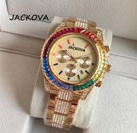 top Luxury Rhinestone Bracelet Watch Men Women Diamond Fashion Ladies Rose Gold Dress Watch Stainless Steel Crystal Wristwatch