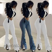 autumn and winter Women Flare Jeans Sexy Denim Pants Ladies High Waist Skinny Split Jeans Trousers Fashion Bootcut Pants S-3XL