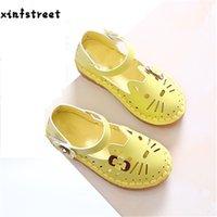 Xinfstreet бренд дети принцессы мягкий каттон кот милый малыш детская обувь для девочек размером 21-30 210308
