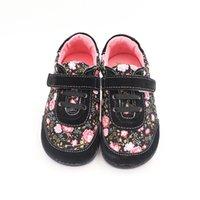 Tipsietoes Brand Высокое Качество Мода Ткань Шитон Детская Обувь Детская Обувь для мальчиков и Девочек 2021 Весенняя босиком кроссовки 210311