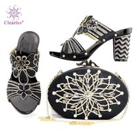 Clearluv Green Shoes and Bag Sets para zapatos y bolsos de mujeres en Italia New African Set para mujer Vestido de novia