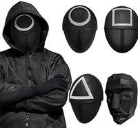 Squid gioco maschera maschera maschera, halloween cosplay rivestimento integrale da masquerade reality sopravvivenza TV 2021 sugli oggetti di sugli accessori