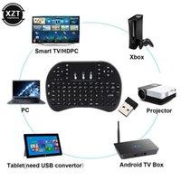Tastiere I8 Tastiera retroilluminata Inglese Air Mouse 1.4GHz Touchpad wireless TouchPad per Smart TV Box H96 Max PC con battey al litio