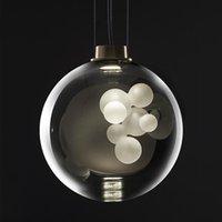 LED Chandelier Modern Creative Kitchen Island Glass Ball Pendant Lamp Dining Room Bedroom Fixtures Restaurant Bar Nordic Lights