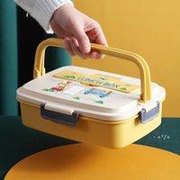 Paslanmaz çelik öğrenci öğle yemeği kutusu taşınabilir çocuk yalıtım mühürlü yemek tabağı bento kutuları gıda konteyner GWD10623
