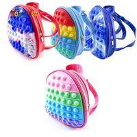 Fidget Zabawki Dzieci Plecaki 3D Girl Boy Torby Szkolne Toddler Kids Schoolbag Przedszkole Anime Kawaii Figet Prezent