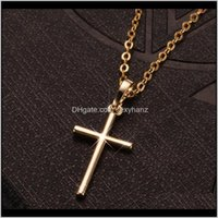 Necklaces & Pendants Jewelryfashion Stainless Steel Pendant Necklace Chain Bijoux For Women Trend Personality Punk Cross Style Lovers Gift H