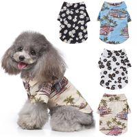 Camisa de estilo hawaiano ropa para perros de mascotas Primavera y verano Daisy Print Shirt PET DOG PEAR PLAIN SHIRTS CAMISETA DOGS DESPUESTA XD24550