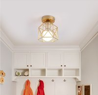 Nordic Minimalism Altın Gölge Ev Dekorasyon Tavan Işıkları Metal Ev Aksesuarları Tavan LMAP Lambası