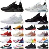 Nike air max 270 남성 여성 운동화 270s React Oreo Core 화이트 트리플 블랙 Bauhaus 남성 트레이너 스니커즈 스포츠 크기 36-45
