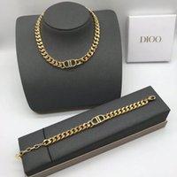 2021 Lyxig designer smycken brev halsband halsband kvinnors nya nät röda armband örhängen