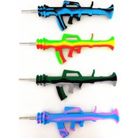 Hookahs New Shape Silicone Nectar Nector Collector kit AK47 design water pipe with titanium tip dab rigs