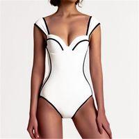 Two-piece Suits 2021 Sexy Retro Striped Push Up One Piece Swimsuit Bodysuit Ladies Monokini Swimwear Women Swim Bathing Suit Trikini