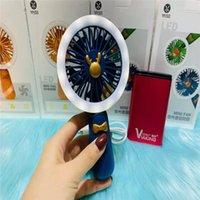 Elektrische LED-LED-Fans Mini USB-Gadgets Wiederaufladbare Fan-Reifen Handheld Tragbare Falt Faltbare Desktop Handkühlung für Sommerreisen