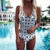 Liva girl African Printed Sexy One-Piece Suits 2019 Push-Up Bandage Swimsuit hot Set Beach Monokini Bathing Costume Bikini1