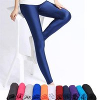 Women Shiny Pant Leggings Hot Selling Leggings Solid Color Fluorescent Spandex Elasticity Casual Trousers Shinny Legging