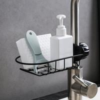 Edelstahl Küchenhahnhahnhalter-Anpassungsspüle Caddy Organizer Seifenbürste Geschirrspülmittel Flüssig Abtropfbürste Lagergestell HH21-76