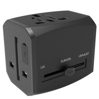 Smart Power Plugs Worldwide Travel Adapter International With 3 USB Ports 1 Type C Port Universal All In One AC Outlet Black