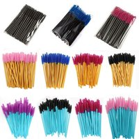 Makeup Brushes Eyebrow Mascara Wand Eyelash Spoolie Brush 50 Pcs set Wholesale Disposable Lash Wands Extension