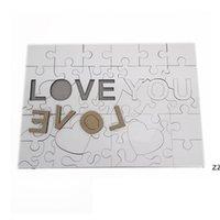 A4 Sublimation Leeres Puzzle Gunst Kreative Liebe 47 Stück MDF Wärmeübertragung Jigsaw Spielzeug DIY Valentinstag Geschenk HWB7425