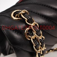 Bonne qualité femmes de luxe de luxe sac à bandoulière marque sac à main Mini classique cuir véritable cuir sac à main caviar texture chaîne sacs de rabat